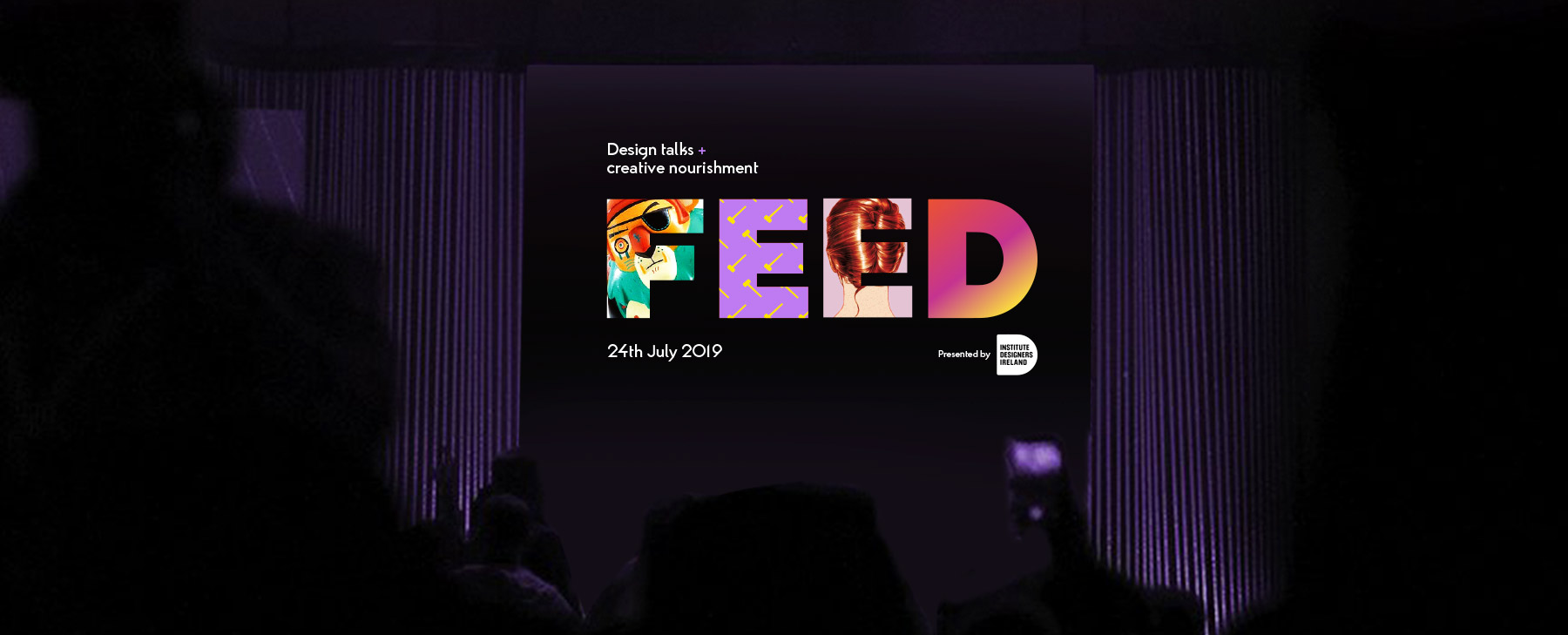 FEED branding on screen at event